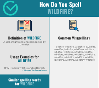 Correct spelling for wildfire