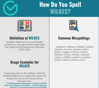 Correct spelling for wilkes