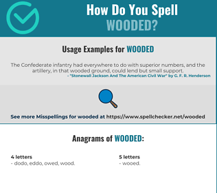 Correct spelling for wooded