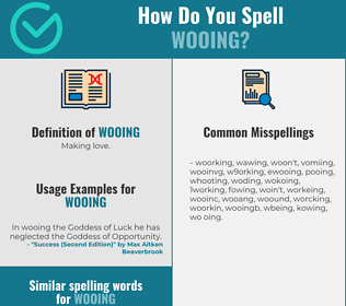 Correct spelling for wooing