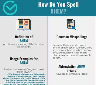 Correct spelling for Ahem