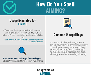 Correct spelling for Aiming