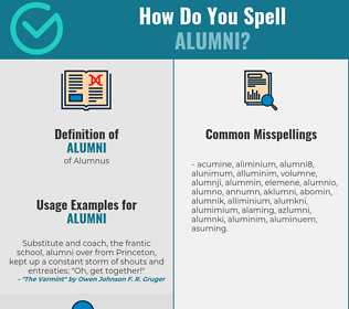 Correct spelling for Alumni