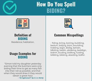 Correct spelling for Biding
