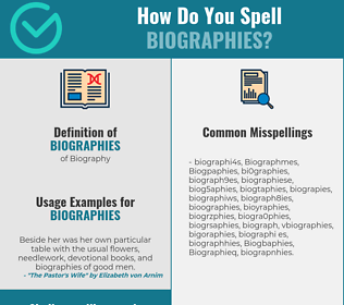 Correct spelling for Biographies