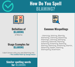 Correct spelling for Blaming