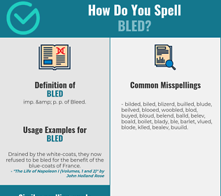 Correct spelling for Bled