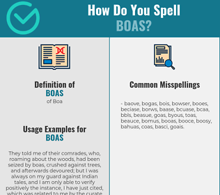 Correct spelling for Boas
