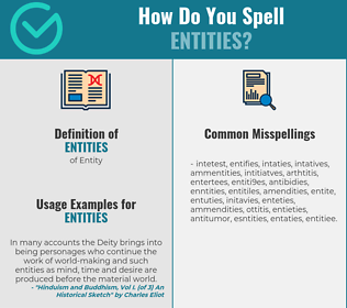 Correct spelling for Entities