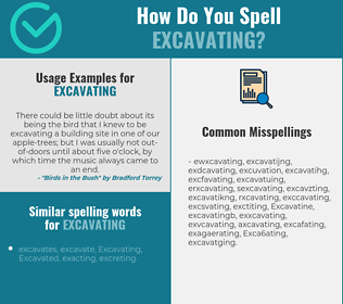 Correct spelling for Excavating