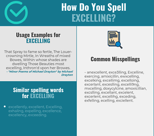 Correct spelling for Excelling