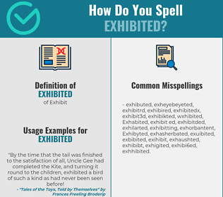 Correct spelling for Exhibited