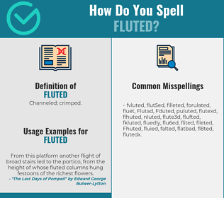 Correct spelling for Fluted