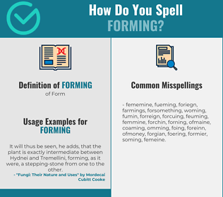 Correct spelling for Forming