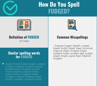 Correct spelling for Fudged