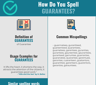 Correct spelling for Guarantees