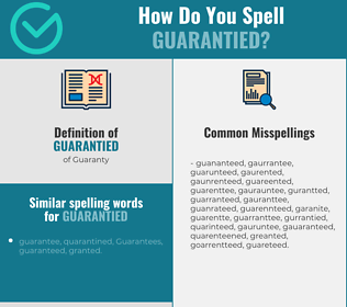 Correct spelling for Guarantied