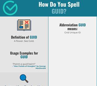 Correct spelling for Guid