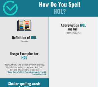 Correct spelling for Hol