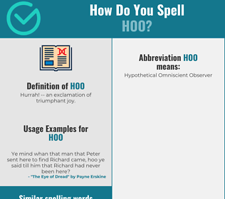 Correct spelling for Hoo