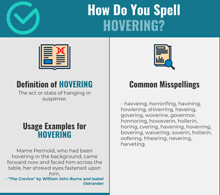 Correct spelling for Hovering