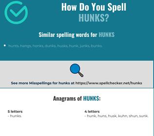 Correct spelling for Hunks