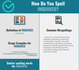 Correct spelling for Inquired