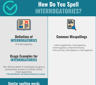 Correct spelling for Interrogatories