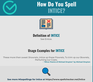 Correct spelling for Intice