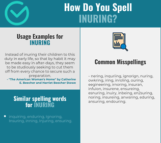 Correct spelling for Inuring
