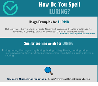 Correct spelling for Luring
