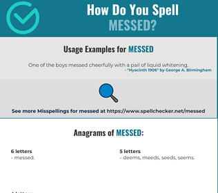 Correct spelling for Messed