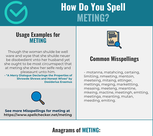 Correct spelling for Meting