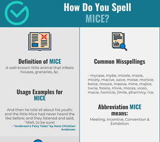 Correct spelling for Mice