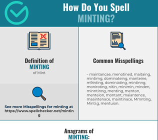 Correct spelling for Minting