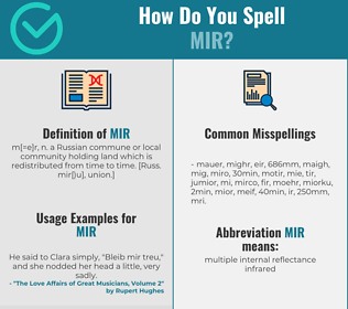 Correct spelling for Mir