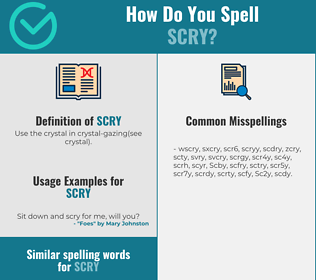 Correct spelling for Scry