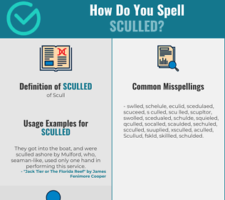 Correct spelling for Sculled