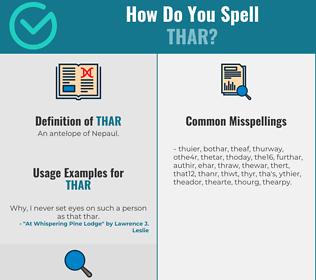 Correct spelling for Thar