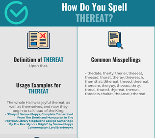 Correct spelling for Thereat