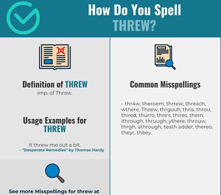 Correct spelling for Threw