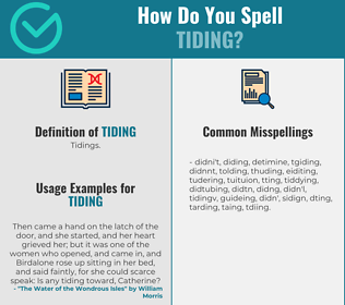 Correct spelling for Tiding