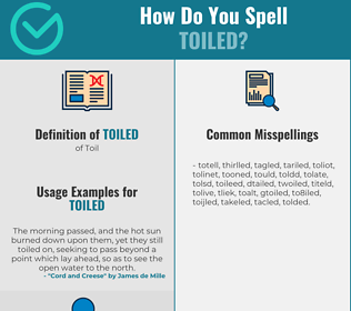 Correct spelling for Toiled