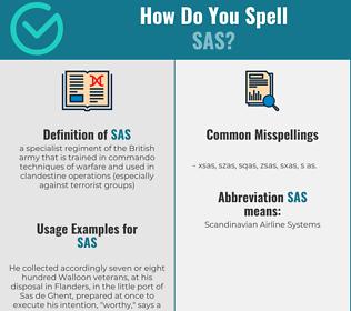 Correct spelling for SAS