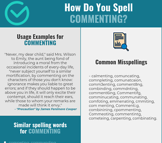 Correct spelling for Commenting