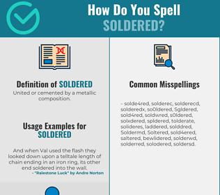 Correct spelling for Soldered