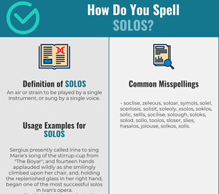 Correct spelling for Solos
