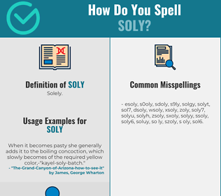 Correct spelling for Soly