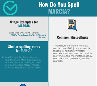 Correct spelling for Marcia