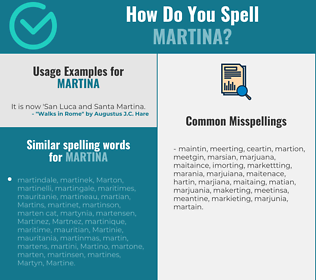 Correct spelling for Martina